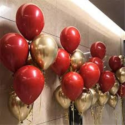 50 red gold balloons5
